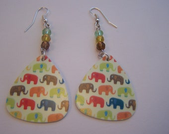 Elephant's Guitar Pick Earrings