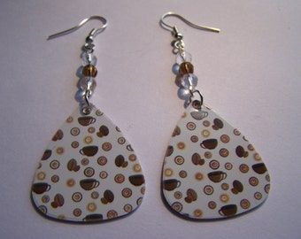 Coffee - Guitar Pick Earrings