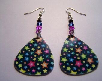 Stars  - Guitar Pick Earrings