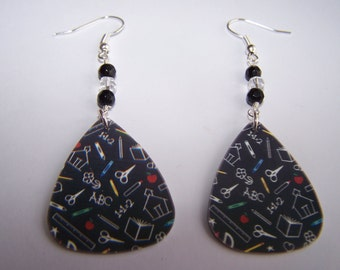 School Stuff - Guitar Pick Earrings