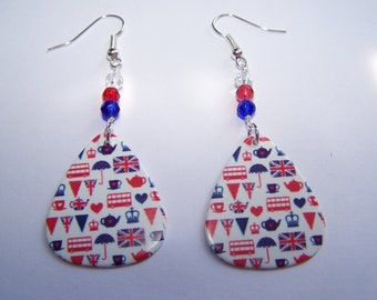 City of London - Guitar Pick Earrings (VERY  LOW STOCK)