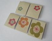 reserved for froggieb- LINE FLOWERS, YOU PICK, 5 Magnetic Bookmarks