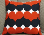 Locking Hearts Red and Black Pillow Cover 16x16