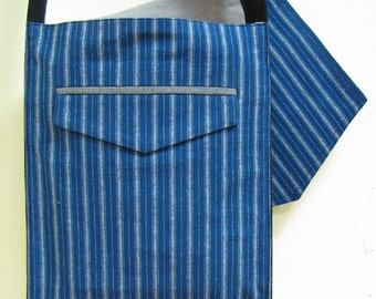 Royal Blue Stripe Hip Bag
