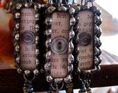 Glass Skinny Stix Necklace with Vintage Buttons