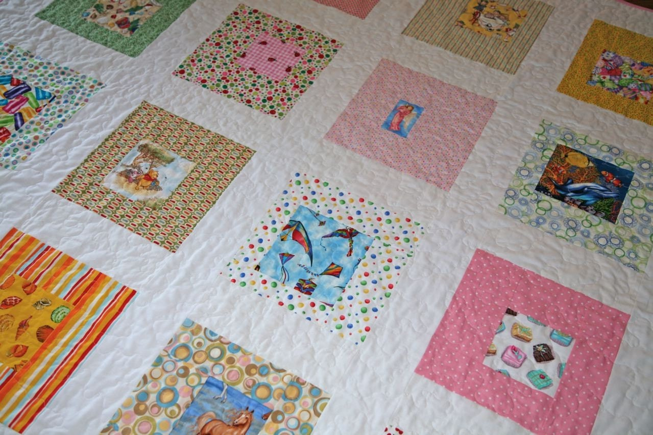 I Spy Fabric Charm Pack for Quilt or Craft Novelty Prints