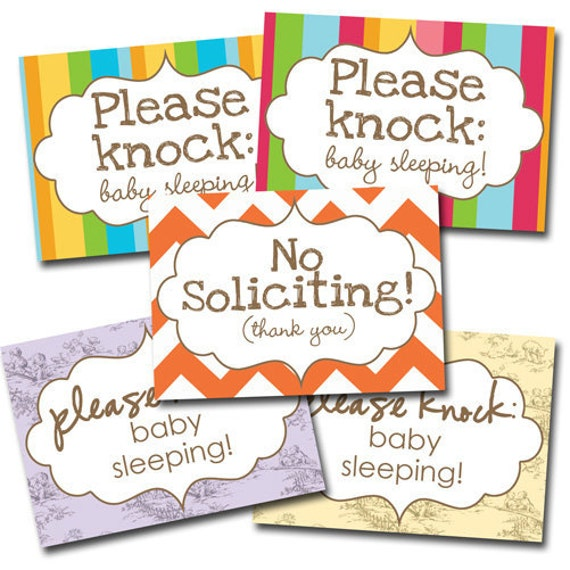 Please Knock sign - NEW -
