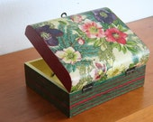 SALE - Flowers and Stripes Box