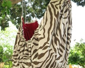 Baby hammock - A crib  for babies and Swinging seat for kids.  Zebra pattern