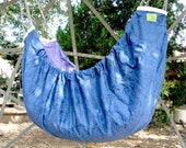 ZAZA Baby Hammock - Satin Blue and Chocolate - A wonderful hammock for babies and swing for kids