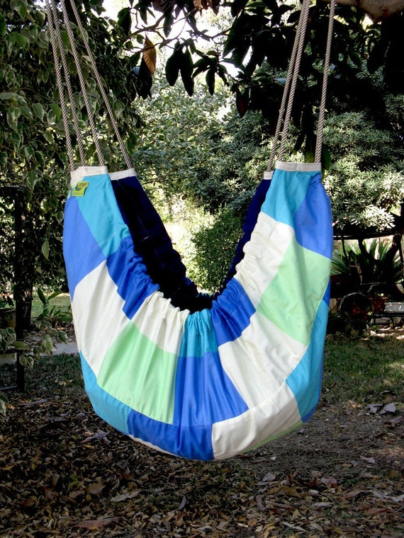 Baby Hammock and swinging seat, cradle, crib, cot for babies and kids - for indoor or outdoor use. Sea Blues ZAZA hammock