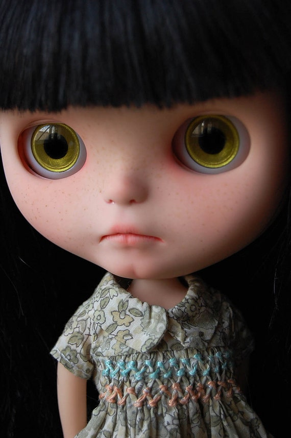 "Custom Blythe Doll human hair rerooted ""LiLi"" by Fausto&Gretchen"