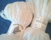 Merino Superwash/Nylon Sock Yarn - Natural White - 100g Skein
