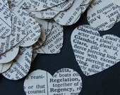 Recycle, Reuse, Repurposed Vintage Dictionary Hearts pack of 100 plus