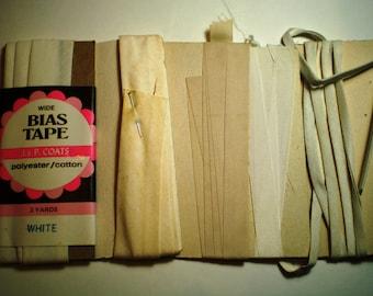 Vintage Seam Binding - Vintage White
