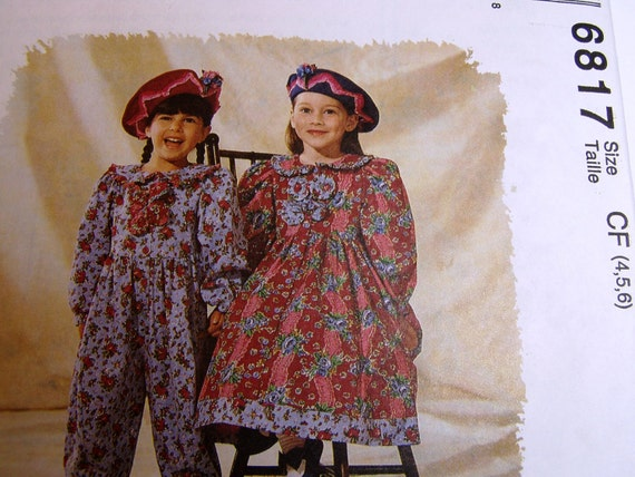 McCall's Pattern 6817 - Girls Jumpsuit and Dress - size 4, 5, 6