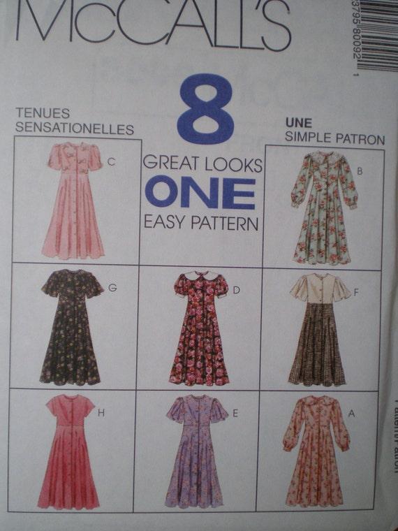 McCalls Pattern 8009 - New - Children's Dress - sizes 4,5,6 - Easy - Fashion