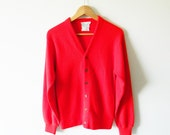 Bright Cherry Red Vintage Cardigan