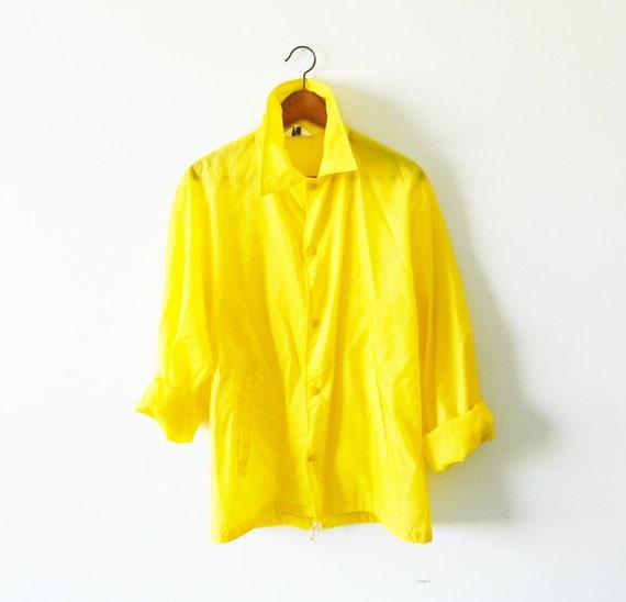 Oversized Vintage Yellow Windbreaker