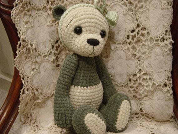 Min OOAK ThReAd crochet Artist Teddy BeAr