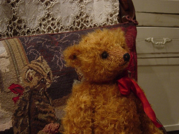 Antique style mohair teddy bear