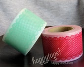 happytape. red OR green winter lace