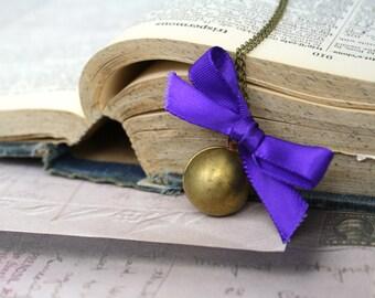 Ball Locket Necklace Brass