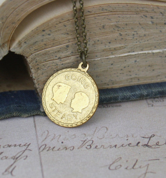 Going Steady Necklace Brass