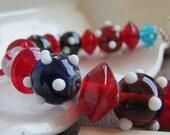 ETSY SALE Caterpillar Lampwork Bracelet