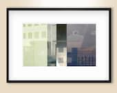 Downtown Grid 1v2, digitally created original fine art 7x12 inch print