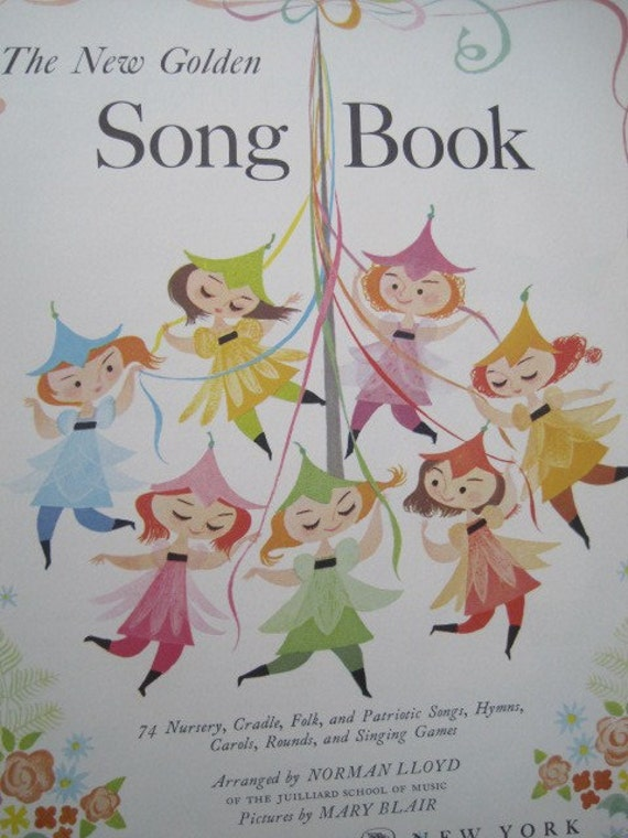 HALF PRICE SALE Vintage Song Book Mary Blair