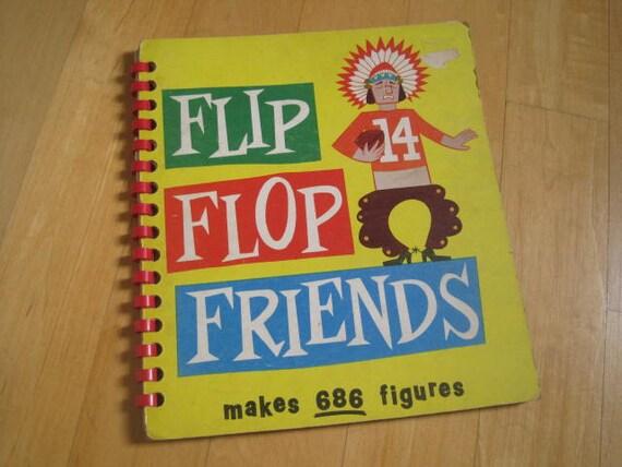 Vintage Book Flip Flop Friends
