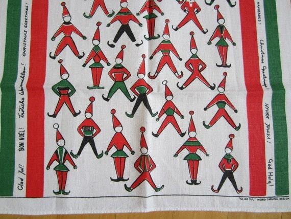 Vintage Towel Christmas Elves