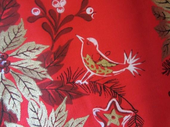 SALE Vintage Christmas Apron Mid Century