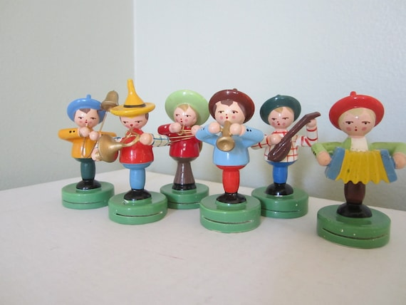 Vintage Band Wood Figurines Place Card Holders