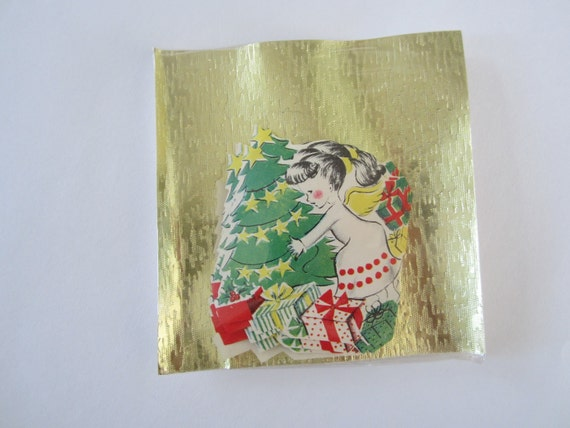 SALE Mint Package Christmas Seals Angel Tree