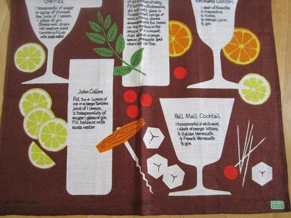 Vintage Towel Linen Cocktails
