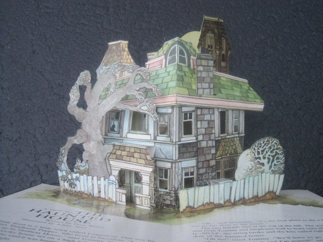 Vintage HAUNTED HOUSE Pop Up Book by Jan Pienkowski 1979 ~ Halloween