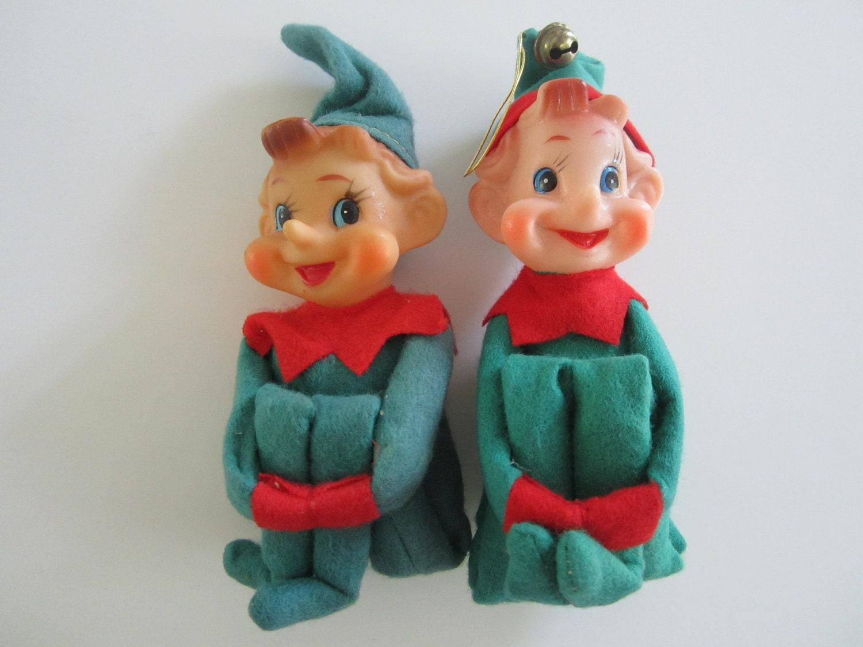Vintage Christmas Elf Knee Hugger Ornaments
