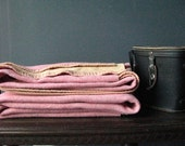 Vintage Blanket Wool 50s Pink Camping and Winter 559 by NowVintage on Etsy