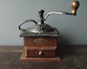 Coffee Grinder Wood and Cast Iron 577 Vintage by NowVintage on Etsy