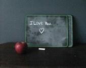 Blackboard Memo Board Handwriting Practice Slate With Lines Vintage by NowVintage on Ets