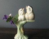 Ceramic Flower Vase of Two Birds Vintage by NowVintage on Etsy