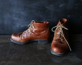 Amalie Leather Booties Tan Size 8 Womens From NowVintage on Etsy