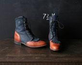 Boots Ropers for Women Leather Ankle high 1005 From Nowvintage on Etsy