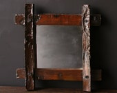 Rustic Cabin Mirror 70s Vintage From Nowvintage on Etsy
