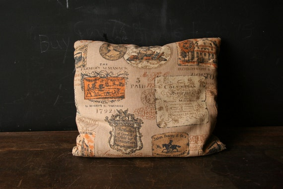 Vintage Accent Pillow  Bark Cloth Catalog Page Advertising 1960s From Nowvintage on Etsy