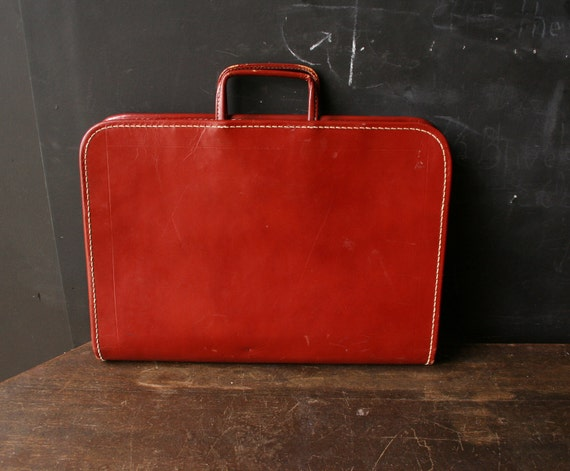 Vintage Briefcase Leather 1960s Rust Color From Nowvintage on Etsy