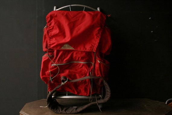 Vintage Backpack with Aluminum Frame Hiking and Camping  Nylon From Nowvintage on Etsy