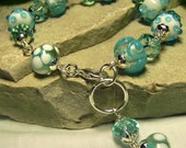 Baby Blue Rock Candy - Crystal Lampwork Art Glass Bracelet - Coco Scapin Designs Chicago